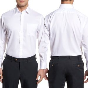 Smartcare™ Traditional Fit Stripe Dress Shirt
